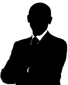 Silhouette Thomas Meister. Rektor und Fußballtrainer.
